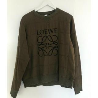 ロエベ(LOEWE)の本物 Loewe ロエベ ロゴ スウェット サイズM カーキ (スウェット)