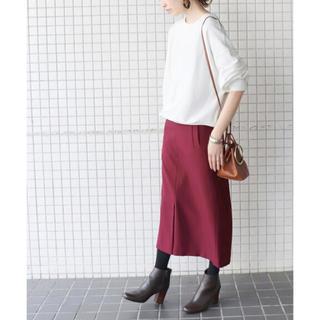 IENA SLOBE - SLOBE IENA  ウーリッシュフラノサイドポケットスカート