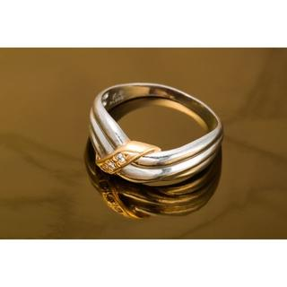 Pt900/K18 ダイヤモンド リング 品番5-866(リング(指輪))