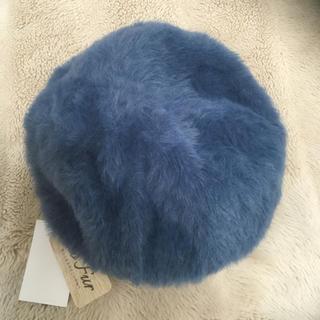 しまむら - 新品しまむらファーベレー帽 ブルー