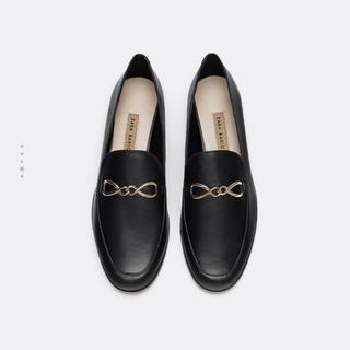 大人気 新品ザラ ★ZARA レザーローファー リアルレザー(ローファー/革靴)