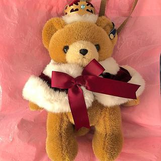 Angelic Pretty - crown bearぬいぐるみポーチ ワイン