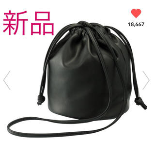 GU - ジーユー GU 完売 ドローストリングバッグ 入手困難 ブラック