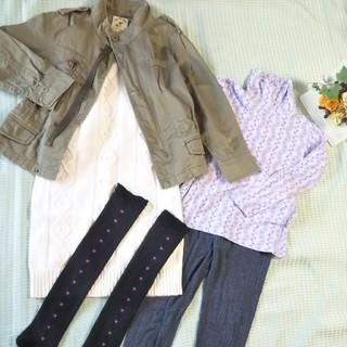 ビームス(BEAMS)の美品 140cm beams/gap 女の子 福袋 アウター ワンピース ズボン(ジャケット/上着)