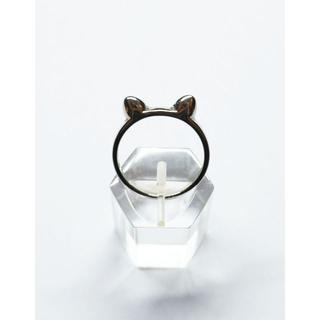 リング 猫耳 シルバー シンプル 猫好き 可愛い(リング(指輪))