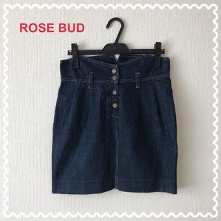 ローズバッド(ROSE BUD)の【ROSE BUD】ローズバッド デニムスカート サイズ1(ミニスカート)