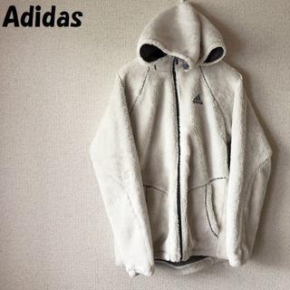 adidas - 【人気】アディダス フード付き ジップアップフリースジャケット M レディース