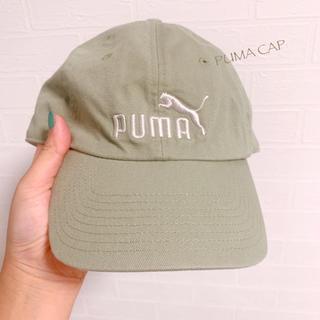 PUMA - 【PUMA】ダスティーカラー ロゴ刺繍 キャップ レディースサイズ 美品