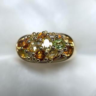 ヨンドシー(4℃)のRUGIADA 半貴 シトリン ペリドット イエローベリル 指輪(リング(指輪))