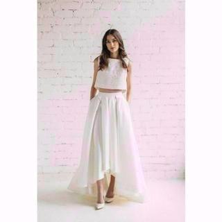 重なるバック セパレート ウエディングドレス フィッシュテール(ロングドレス)