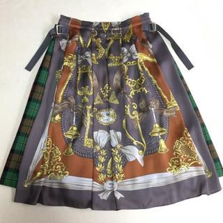 ジェーンマープル(JaneMarple)のJM ドンル Merry melodies tartan check skirt(ひざ丈スカート)