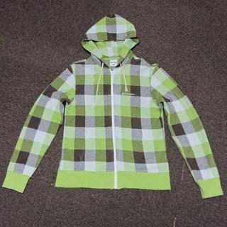 コロンビア(Columbia)の【コロンビア Columbia】綿100%スウェットパーカー 黄緑 XS(パーカー)