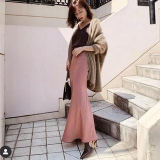cachec マーメイドラインサテンスカート