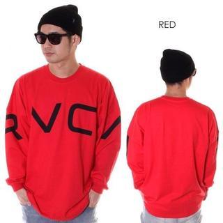 RVCA - RVCA ルーカ FAKE RVCA L/S TEEロンTオーバーサイズ赤S