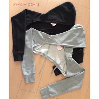 PEACH JOHN - ブラック☆PEACH  JOHNアームカバーパーカー