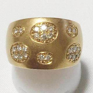 K18 ゴールド ダイヤモンド リング 指輪 お洒落 綺麗 贈物 豪華(リング(指輪))