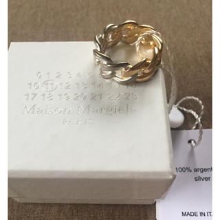 マルタンマルジェラ(Maison Martin Margiela)の18AW新品L メゾンマルジェラ メンズ ツートーン チェーンリング(リング(指輪))