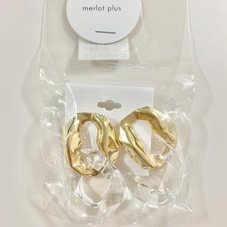 メルロー(merlot)のmerlot plus  ピアス ゴールド クリア リング(ピアス)