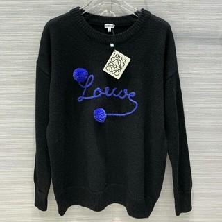 ロエベ(LOEWE)のLOEWEロエベ ニット セーター ウール 男女通用 ブラック M(ニット/セーター)