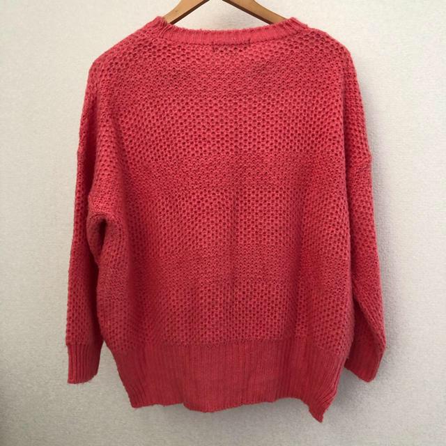 CECIL McBEE(セシルマクビー)のセシル セシルマクビー ゆったり セーター ニット ピンク M トップス   レディースのトップス(ニット/セーター)の商品写真