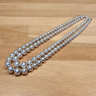 Tiffany & Co. - 良品 ティファニー ボール ネックレス 2連 デザイン シルバー 925