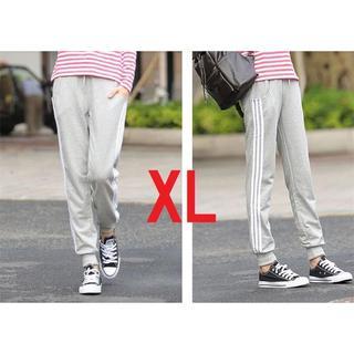 XLサイズ 女性用 グレー 送料無料 レディース サイドラインパンツ(カジュアルパンツ)