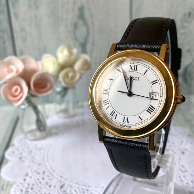 Gucci - 【電池交換済み】GUCCI グッチ 7200M 腕時計 ゴールド メンズの通販