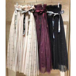 snidel - 大人気♡snidel チュールロゴスカート