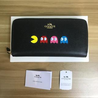 COACH - COACHxパックマン コーチ財布 F73397 長財布 可愛い ブラック