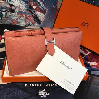 【正規品】HERMES 極美品 ✨ エルメス 『べアン』スフレ 長財布