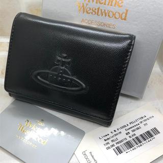 Vivienne Westwood - VivienneWestwood レザー 三つ折り コンパクト財布 新品未使用