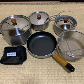 ユニフレーム(UNIFLAME)のユニフレーム fan5 duo サービスで山ケトル付き(調理器具)