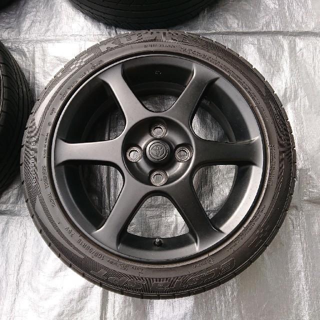 トヨタ(トヨタ)の値下げ⤵️ヴィッツRS 純正ホイール 15インチ 4本 中古 純正ナット付き  自動車/バイクの自動車(タイヤ・ホイールセット)の商品写真