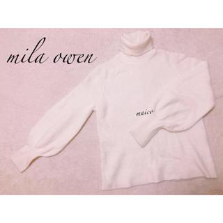 ミラオーウェン(Mila Owen)のmila owen☆パフスリーブニット(ニット/セーター)