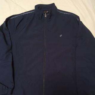 アシックス(asics)のアシックス ウォームアップジャケット ネイビー色 Lサイズ(ウェア)