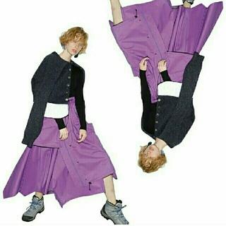 エンフォルド(ENFOLD)の値下げ不可 nagonstans スリーレイヤーマウンテンスカート(ロングスカート)