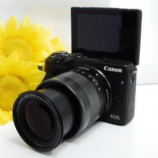 Canon - ★スマホ転送&自撮りOK! ★Canon EOS M3 レンズセット ブラック
