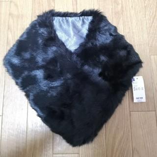 GU - 【新品タグ付】GU フェイクファーティペット ブラック