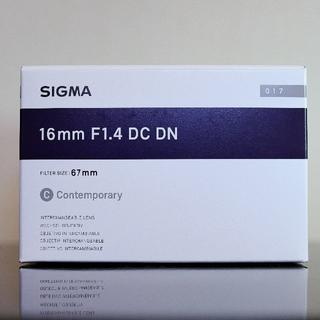 SIGMA - 【新品未開封】SIGMA 16mm F1.4 DC DN SONY Eマウント