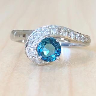 ✨インディゴライトトルマリン✨トルマリン❣️ダイヤ Pm900 リング 指輪