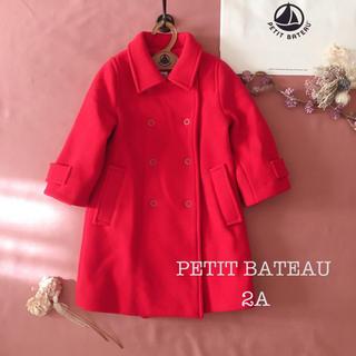 PETIT BATEAU - PETIT BATEAU 売り切れです。プチバトー|フレンチレッド コート୨୧
