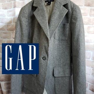 ギャップ(GAP)のGAP ギャップ ウールジャケット テーラードジャケット グレー(テーラードジャケット)