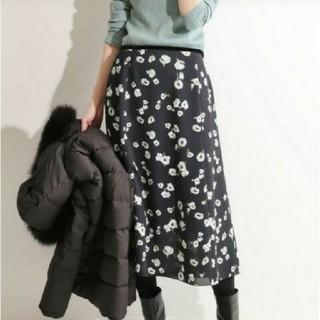 IENA - イエナ♡フレアーフラワースカート 34