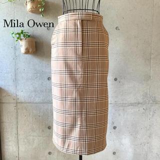 Mila Owen - 【美品】 Mila Owen ミラオーウェン チェックスカート 0