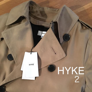HYKE - HYKE トレンチコート タグ付き 美品 hyke