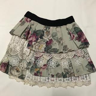 ジェーンマープル(JaneMarple)のJaneMarple☆ヴィンテージフラワー柄スカート(ひざ丈スカート)