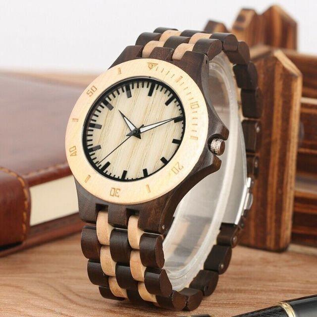 ★最後の1点★ 天然木材 腕時計 Wooden Watch 新品未使用の通販