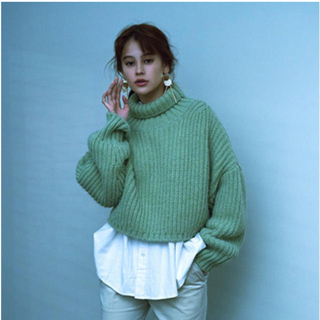 SLY - SLY 大人気 ニット MINT TURTLE CROPPED RIB TOPS