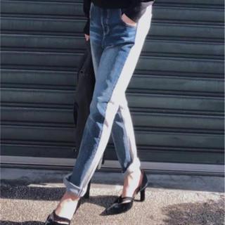 Ameri VINTAGE - Ameri vintage DENIM DOCKING SWEAT PANTS