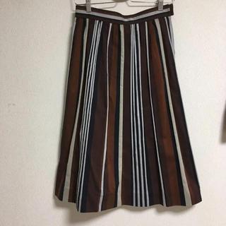 マッキントッシュフィロソフィー(MACKINTOSH PHILOSOPHY)のマッキントッシュ Aライン ストライプ スカート(ひざ丈スカート)